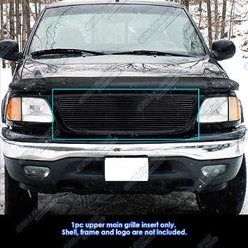 Fits 99-03 F-150//Lightning//Harley Black Billet Grille Insert