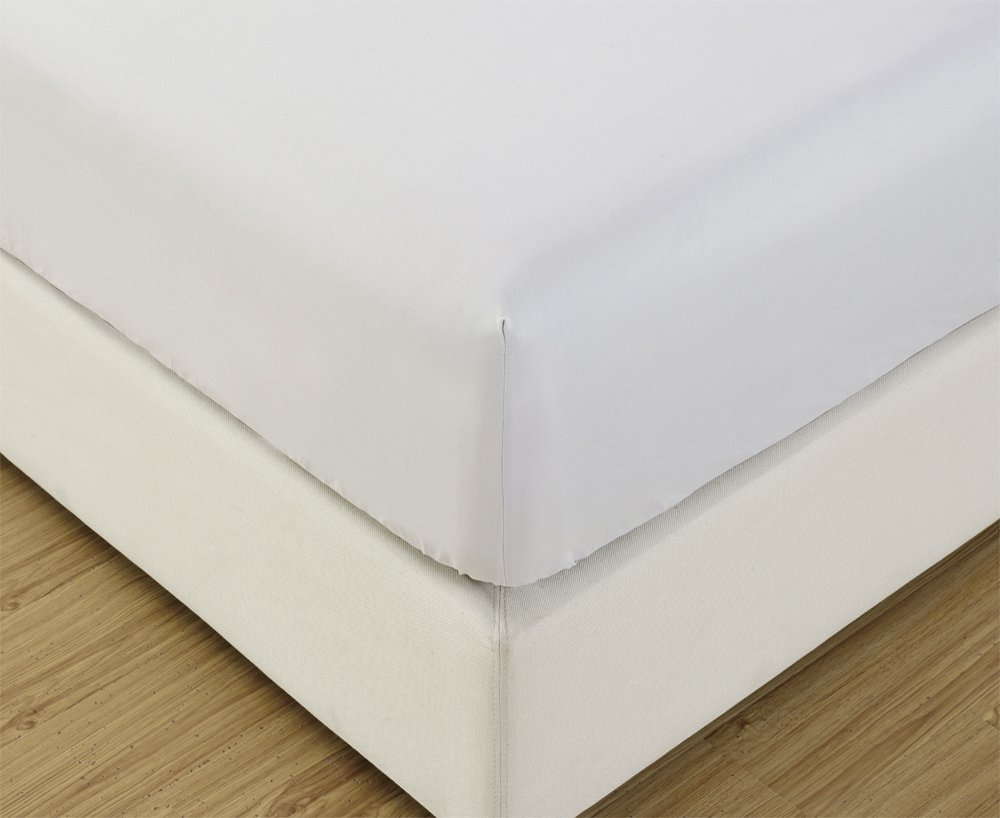 Mellanni Fitted Sheet Cal-King White