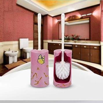 Escobillero Y Portaescobillas Set de Escobillas para Inodoros Cepillos para Inodoros de Ba/ño Portaescobillas de Inodoro de M/ármol Natural con Base Cepillo para Inodoro de Piso Europeo Ba/ño para el Ho