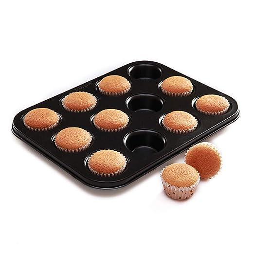Molde De Pan Mini 12 Piezas Copa De Acero Al Carbono Muffin Cake ...