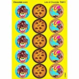 60 x Lots of Chocolate Scratch and Sniff Stickers (Chocolate Scent) by TREND ENTERPRISES INC.