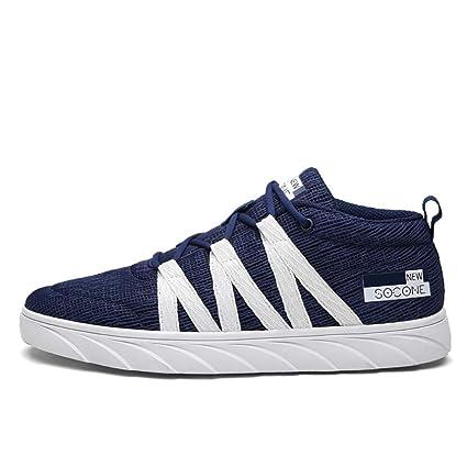 Amazon.com: Hemei Zapatos de hombre, primavera/caída de moda ...