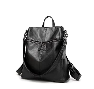 modern and elegant in fashion official images on sale online Leather Backpack for Women, Water-resistant PU Faux Leather Large Capacity  Ladies Girls Convertible Rucksack Shoulder Bag