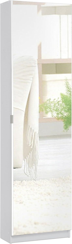 50 x 22 x 180 H Cm Nobilitato Bianco Inter Trade Corporation Marika A1 Scarpiera