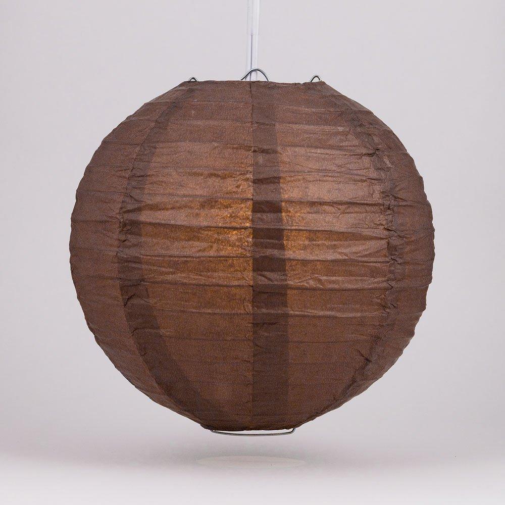 Quasimoon PaperLanternStorecom 36 Brown Round Paper Lantern