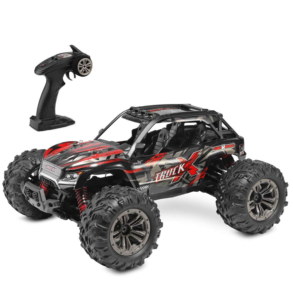 DM 1: 16 Scale RC Cars for Kids & Adults, 36km/H High Speed 4WD Remote Control Truck, 2.4Ghz Radio Controller, Radio Controlled Electronic Cars, Waterproof Off-Road RC Trucks, White