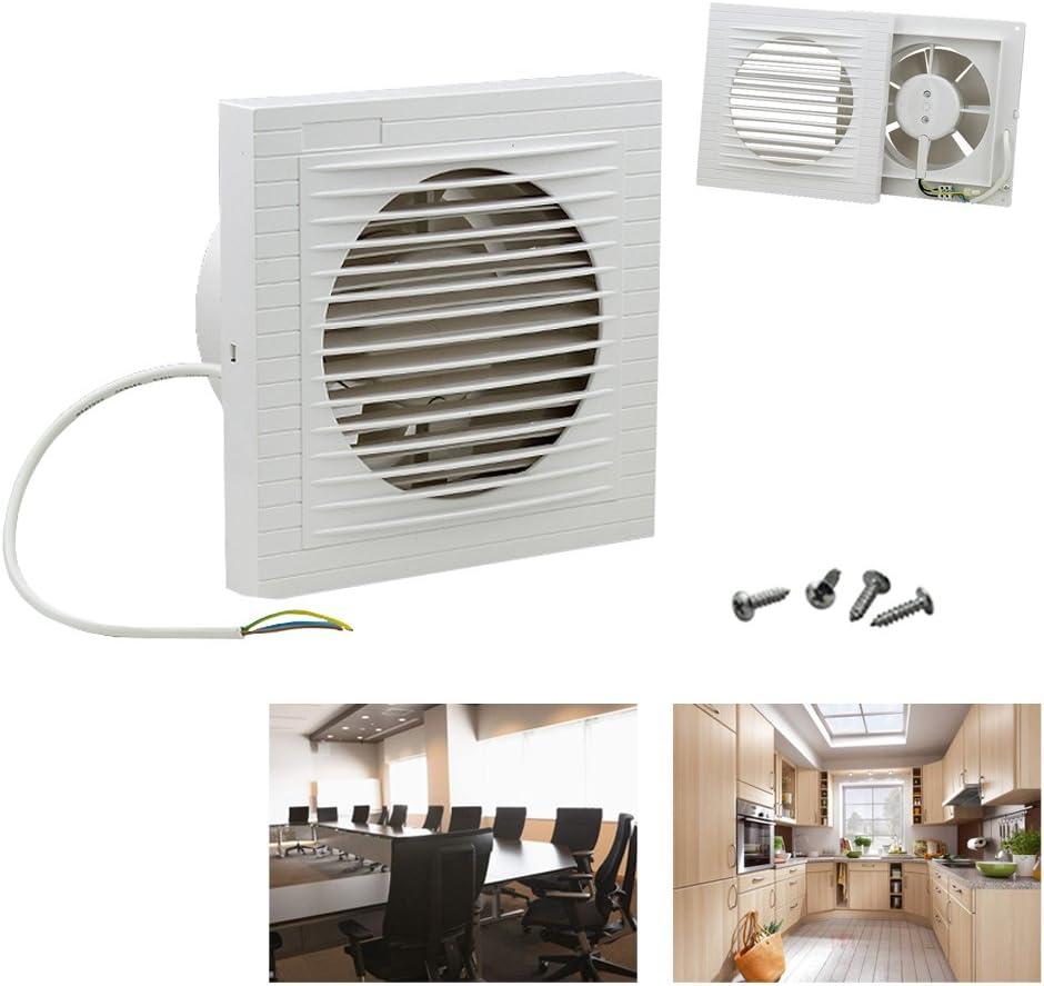 HG - Ventilateur mural - Pour la salle de bain, la cuisine, les WC - 100 mm - Silencieux - Blanc