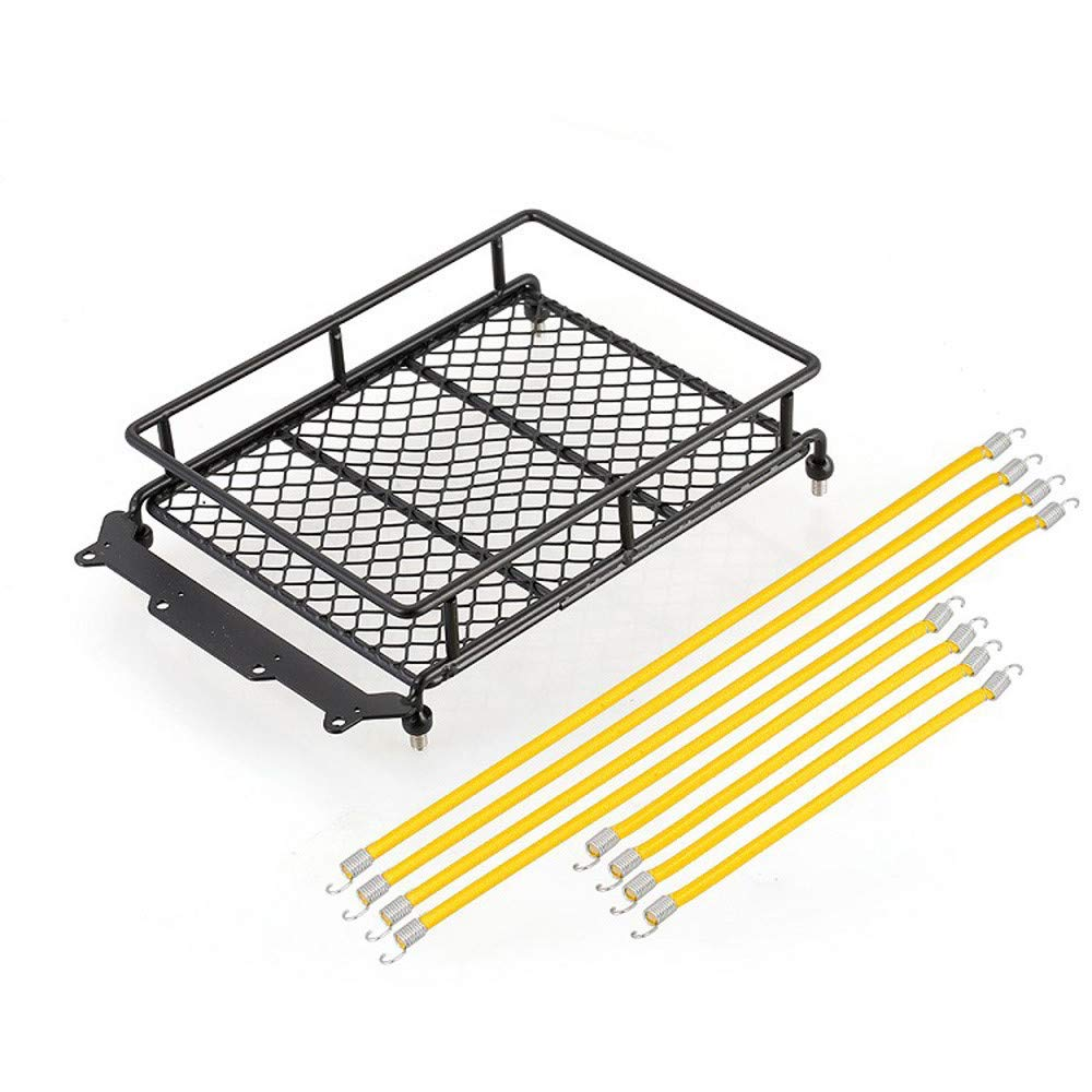 Maonet 1/10 Crawler Accessories Luggage Rack Rope for SCX 10 RC Climbing Car Trailer (Yellow)