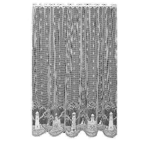 Heritage Lace Lighthouse 60-Inch Wide by 63-Inch Drop Panel, White