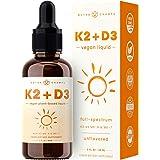 Vitamin K2 D3 Supplement Drops - Healthy Bones, Heart, Mood & Immune System - Vegan D3 5000 IU & K2 MK7 & MK4 100 mcg - 2 oz.