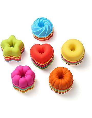 Moldes de silicona reutilizables para donuts antiadherentes y resistentes al calor, 36 unidades, sin