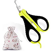 Cat Nail Clipper, Professional Pet Nail Clippers for Small Animals, Best Home Grooming Kit, Painless Claw Trimmer Cutter Scissors for Small Breeds Tiny Dogs Cats Bunnies Guinea Pigs Rabbits Birds, User Manual Included