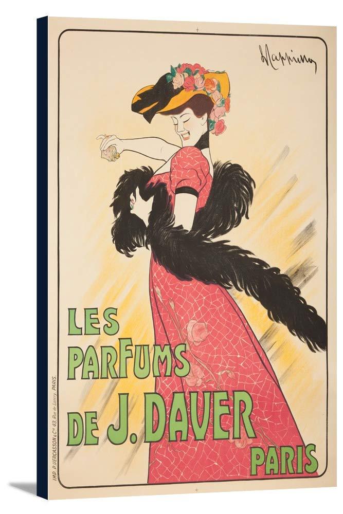 Les Parfums De J DAVERヴィンテージポスター(アーティスト: Leonetto CappielloフランスC。1903 24 x 36 Gallery Canvas LANT-3P-SC-60238-24x36 B0184B5AG0  24 x 36 Gallery Canvas
