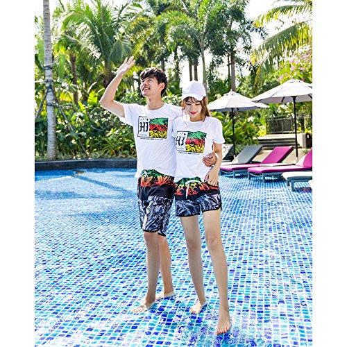Rápido Bozevon Secado De Mujeres Estampado Hombres Y Mujeres Baño para Casual Summer Beach Estilo Shorts 3 Multicolores wxYrHqwF