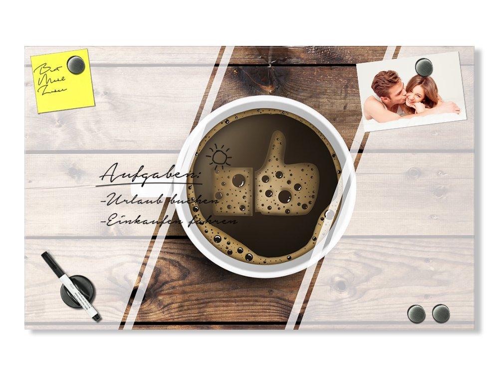 50x30cm GRAZDesign K/üchentafel Magnetwand Hochglanz Memoboard Cocktail Glas beschreibbar und magnetisch Notiztafel K/üche Magnetpinnwand