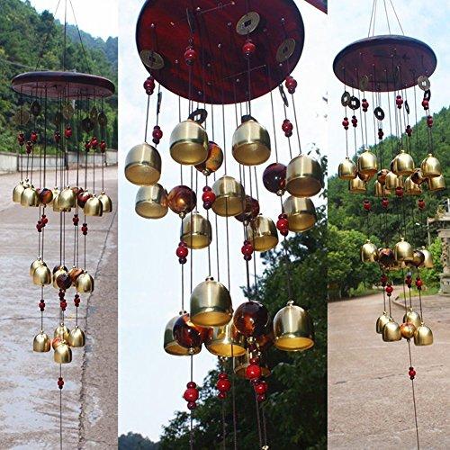 Raza 18 Bells Copper Wind Chimes Feng Shui Goods for Yard Garden Decoration Outdoor Noise Maker Windbell Mascot (Mascot Maker)