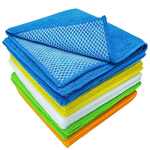 S&T 598501 Microfiber Mesh Scrubbing Dish Cloths - 12