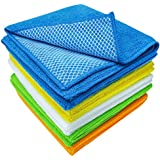 S&T 598501 Dish Cleaning Cloth with Poly Scour Side, 10 Pack, 10 Pack, Assorted Colors