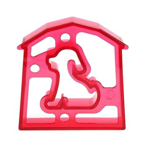 RONGXINUK Simple moldes molde molde Sandwich tostadas Pan perro elefante pan eléctrica con forma de coche