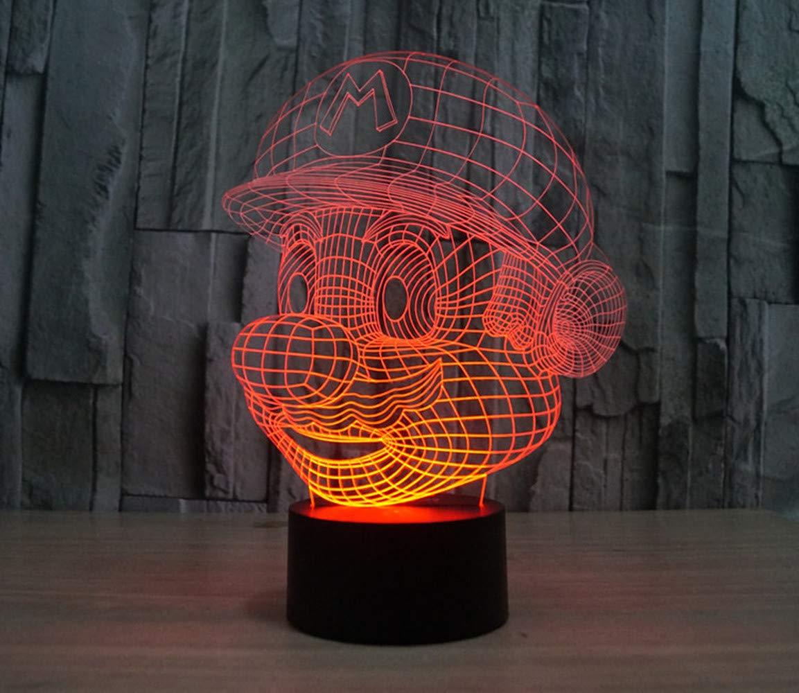 Dragon ball 3 3D Lampe Illusion Optique LED Veilleuse CKW 7 Couleurs Tactile Lampe de Chevet Chambre Table Art D/éco Enfant Lumi/ère de Nuit avec C/âble USB Nouveaut/é De No/ël Cadeau danniversaire