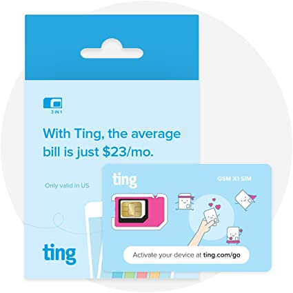 Amazon.com: Tarjeta SIM Ting GSM, la cuenta mensual promedio ...
