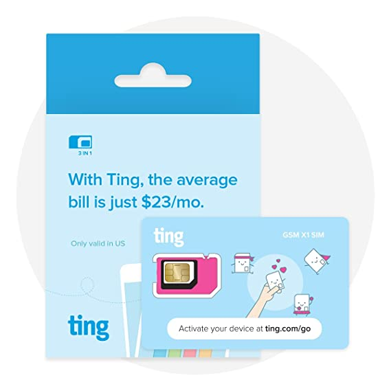 Amazon Com Ting Gsm Sim Card Average Monthly Bill Is 23 No