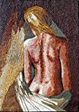 Mozaico - Naked Woman Mosaic Mural Artwork Design MS147
