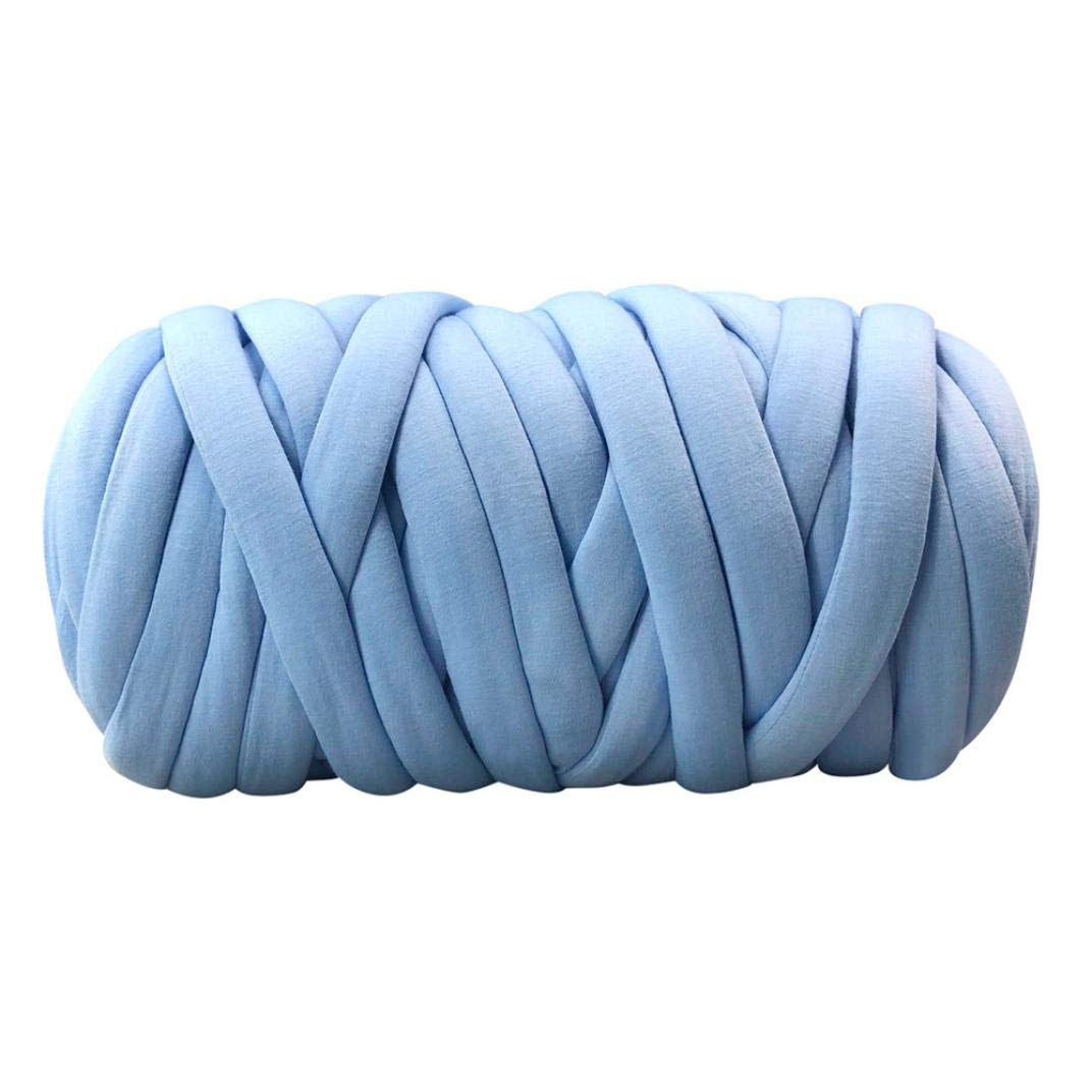 Dirance Giant Yarn Soft Plush Wool Yarn Super Chunky Yarn Knit Yarn Extreme Arm Knitting Bulky Roving Yarn DIY For Finger Knitting, Crocheting Felting, Making Rugs Blanket (H)