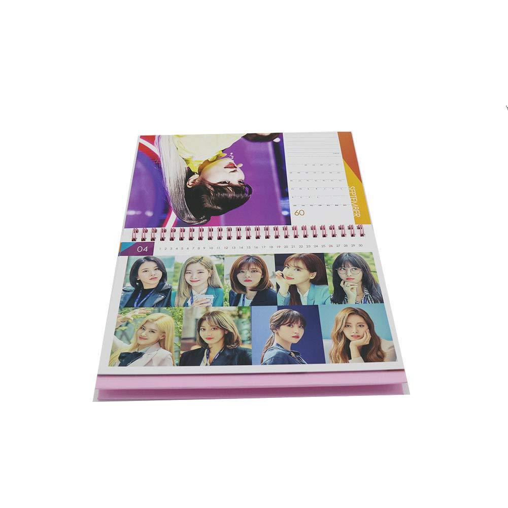TWICE Calendario de escritorio con extra tarjetas de fotos y pegatinas