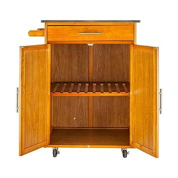 Amazon.com: FCH - Armarios de madera para carro de cocina ...