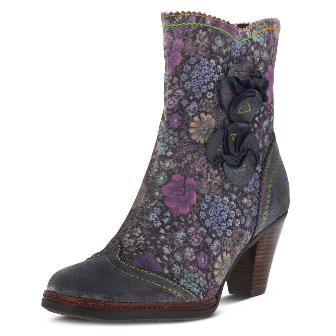 L'Artiste by Spring Step Women's Simonetta Boot B074HG1GJ7 39 M EU|Blue Multi