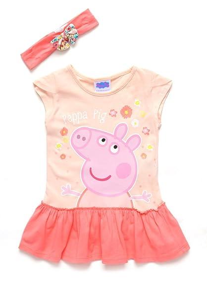 66e4ac424 Peppa Pig Vestido Naranja Peppa Pig Vestido para Niñas Naranja Talla 3X A