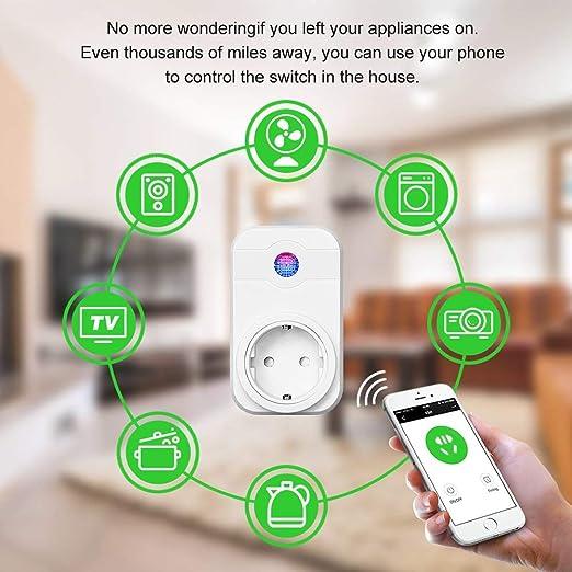 Enchufe Inteligente WiFi Que Funciona con Amazon Alexa (Echo y ...