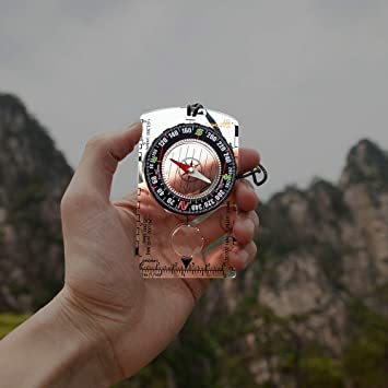7e71858fa7 AceCamp コンパス 方位磁石 軽量 防水 高精度 コンパクト アウトドア キャンプ ハイキング 登山 レジャー 防災 非常