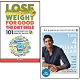 4 pillar plan and lose weight for good 2 books collection set - how to relax, eat, move and sleep your way to a longer, healthier life, the diet bible 101 lasting weight loss ideas for success