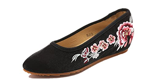 Tianrui Crown Mocasines de Lona Para Mujer: Amazon.es: Zapatos y complementos