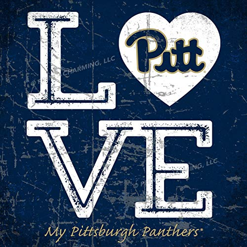 Prints Charming College Love My Team Logo Square Color Pittsburgh Panthers Unframed Poster 13x13 Inches - Square Pittsburgh Panthers