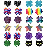 Youngbox 12 Pairs Pasties Nipple Cover Adhesive Breast Petals Disposable Nippleless Cover
