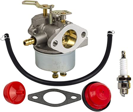 Amazon.com : HIFROM 632370 Carburetor Carb Kit with Fuel Filter Primer Bulb  Fuel Line for Tecumseh HM100 HMSK100 HMSK90 Snow Blower : Garden & OutdoorAmazon.com