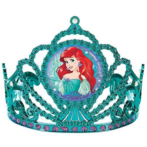 Princess Ariel Tiara (Disney Ariel Princess Tiara Birthday Party Wearable Favour (1 Piece), Blue/Pink, 3 1/2