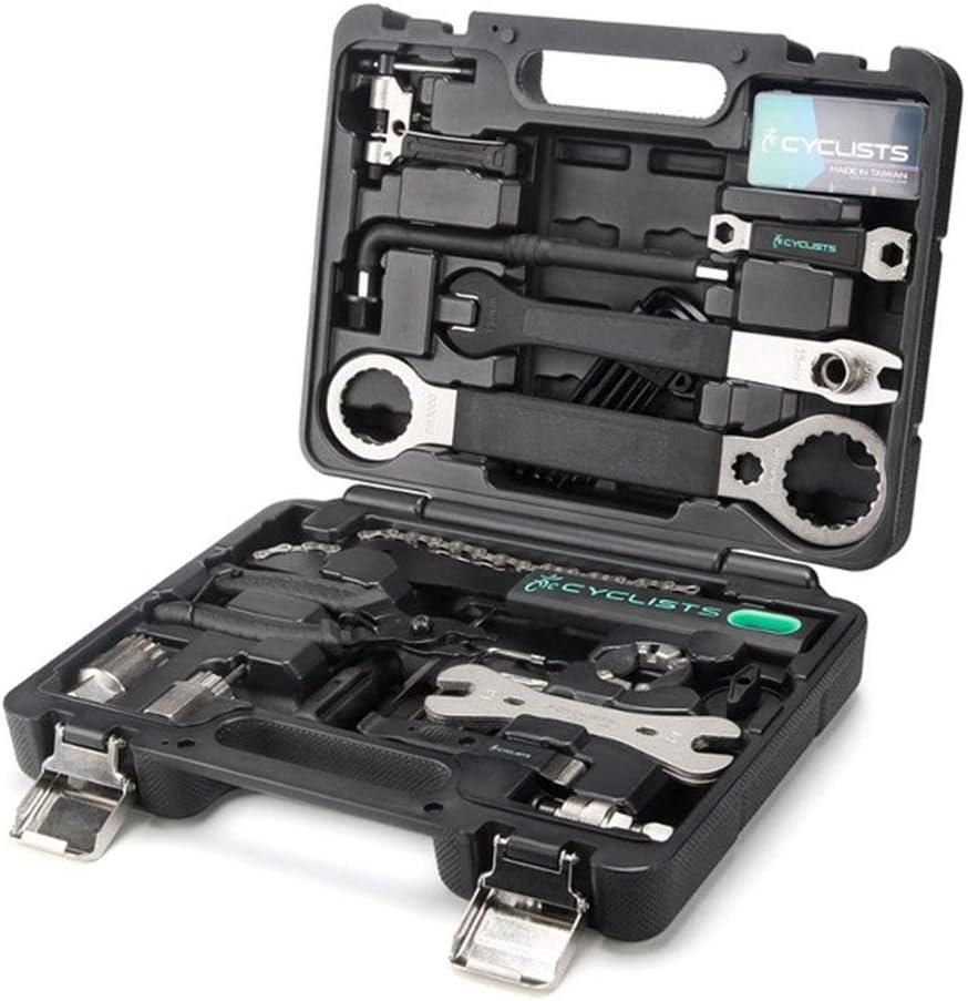 Pro Bicycle Maintenance Box Case Bike Repair Hand Wrench Tool Kit Set UK F5X1