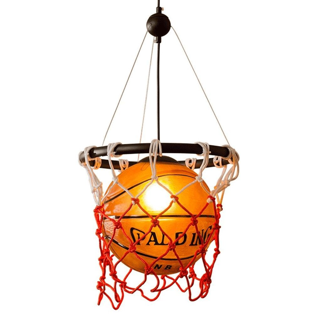 Denuo Ceiling Chandelier, Personalized Glass Basketball Lighting Creative Children Bedroom Room Decoration Lights E27 Light Source