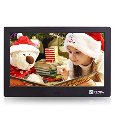 ARZOPA 10 pulgadas IPS Marco Digital con Amplia Pantalla HD 16:9 con Funciónales de