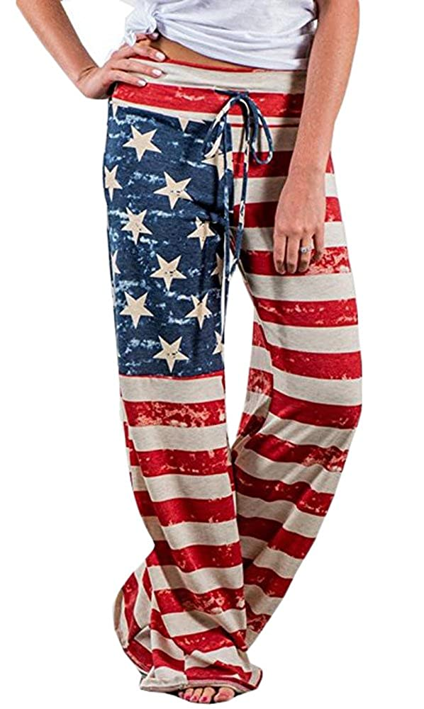 Usa Flag For G and PL Women's American Flag July 4th Lunge Pants Loose Leggings
