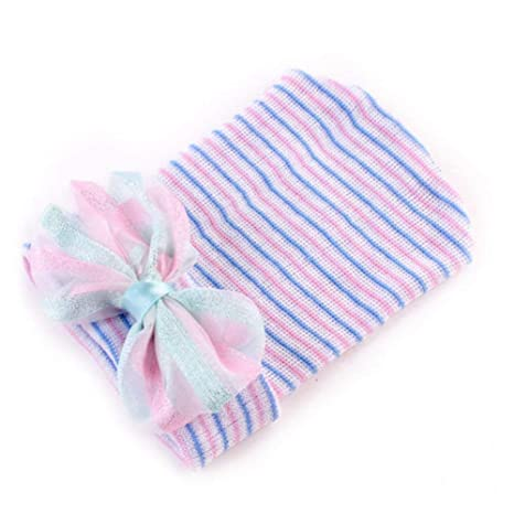 cb571706940 wintefei Cute Newborn Baby Infant Girls Toddler Bow Striped Soft Hospital  Cap Beanie Hat - Stripe  Amazon.in  Baby
