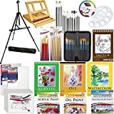 US Art Supply 133pc Deluxe Artist Painting Set with Aluminum and Wood Easels, Paint and AccessoriesDoggy Supply Mall