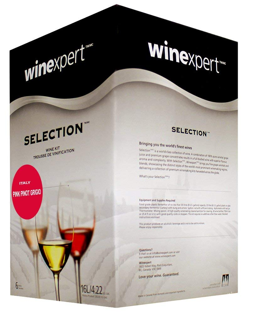 Pink Pinot Grigio Italy (Selection International) Wine Ingredient Kit by Winexpert (Image #2)