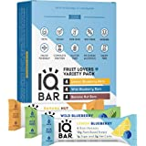 IQBAR Brain and Body Keto Protein Bars - Fruit Lovers Variety Keto Bars - 12-Count Energy Bars - Low Carb Protein Bars…