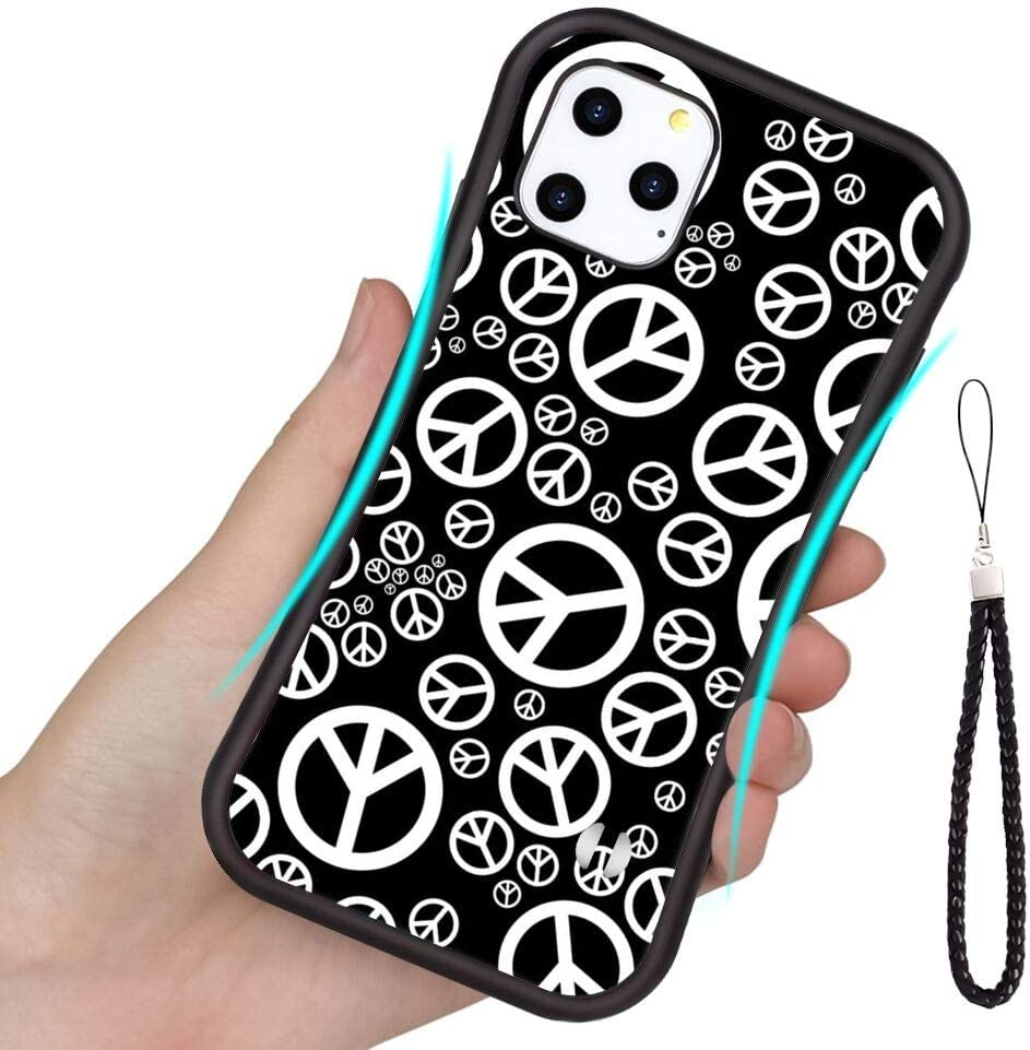 Peace Sign TPU Case Compatible iPhone 11 6.1in for Girl.