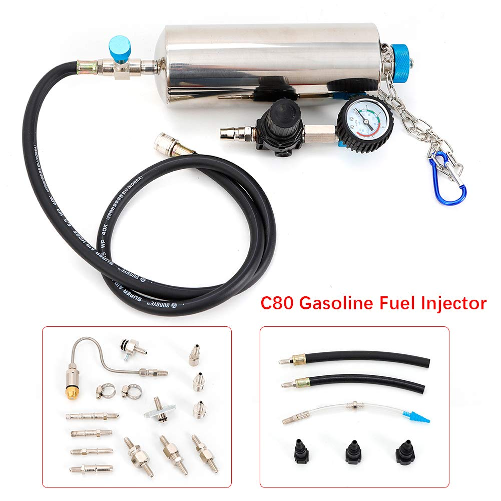 USA STOCK Gasoline Fuel Injector TBVECHI 0-120PSI C80 Non-Dismantle Gasoline Fuel Injector 140PSI Throttle Cleaner EFI